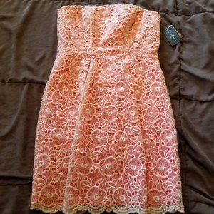 4/$25 NWT Flaw Jessica Simpson strapless lace dres